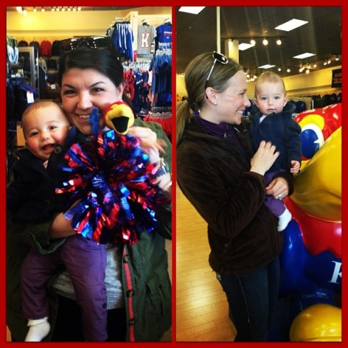 Baby B getting her Jayhawk shopping on